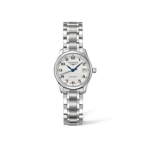 Longines Master Collection 25mm Stainless Steel White Arabic Dial Ladies' Watch