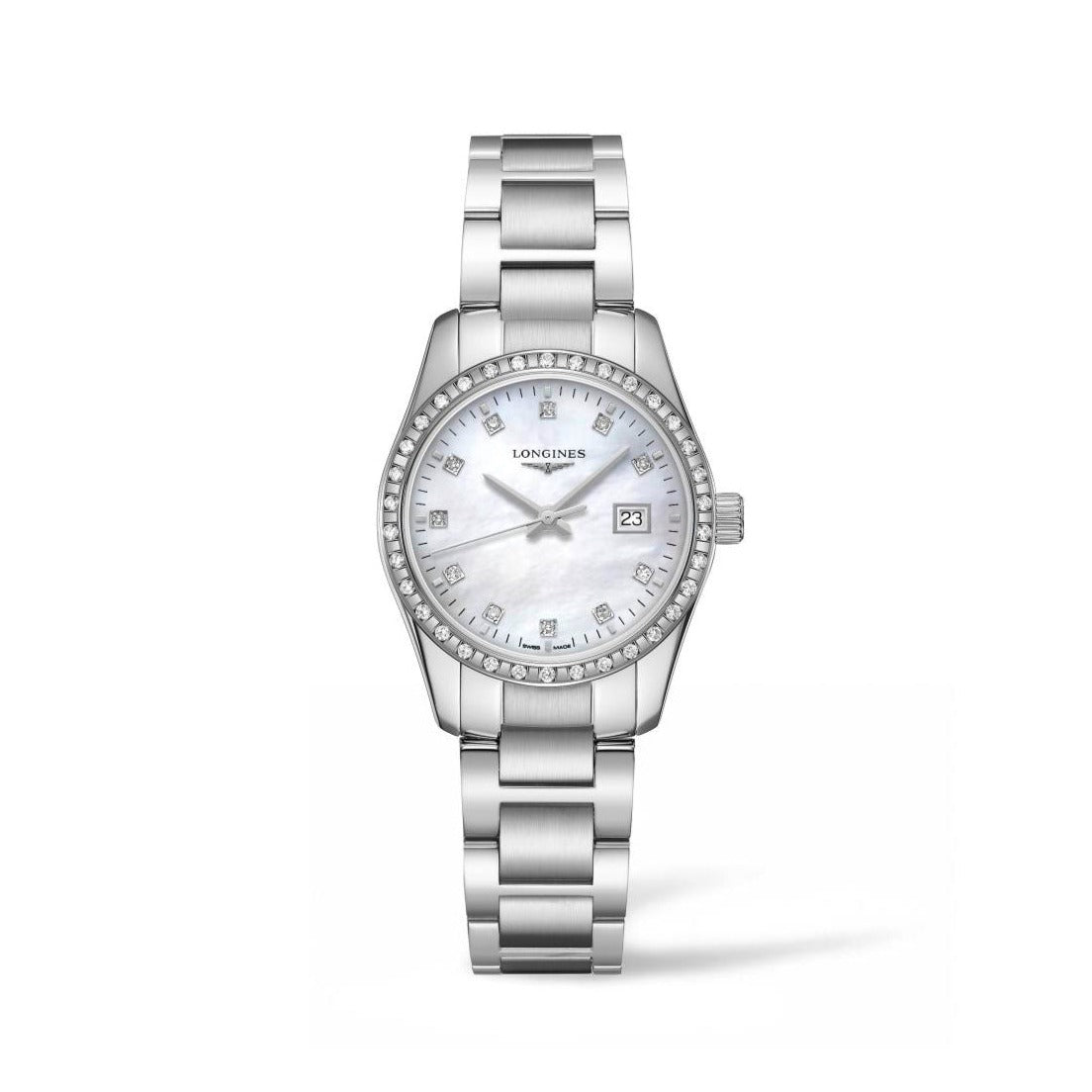 Longines Conquest Classic Collection 29.5mm Mother-of-Pearl Dial Diamond Bezel Ladies' Watch