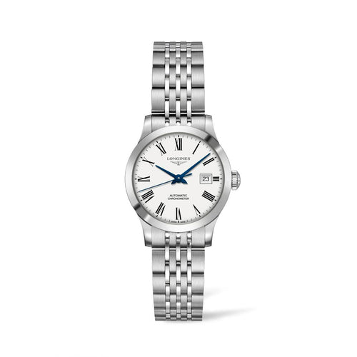 Longines Record Collection 30mm White Dial Ladies' Watch