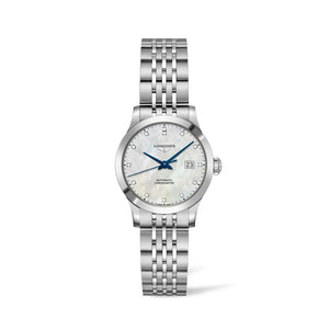 Longines Record Collection 30mm Mother-of-Pearl Dial Ladies' Watch