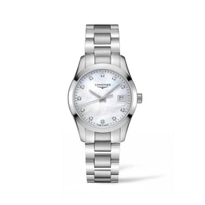 Longines Conquest Classic Collection 34mm Mother-of-Pearl Dial Ladies' Watch