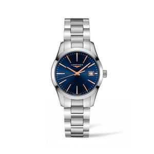 Longines Conquest Classic Collection 34mm Blue Dial Ladies' Watch