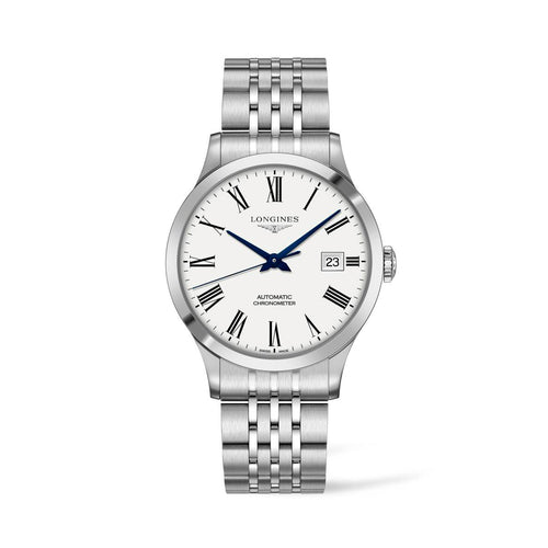Longines Record Collection 40mm White Dial Gent's Watch