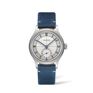 Longines Classic Heritage Collection 38mm Silver Dial Blue Leather Gent's Watch