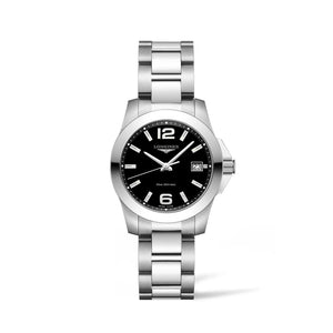 Longines Conquest Collection 34mm Black Dial Ladies' Watch