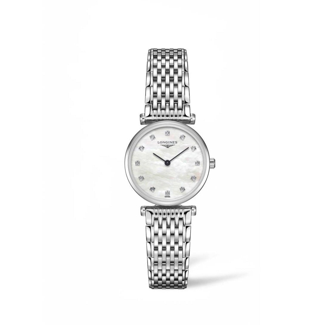 Longines La Grande Classique Collection 24mm Stainless Steel Ladies' Watch with Diamonds
