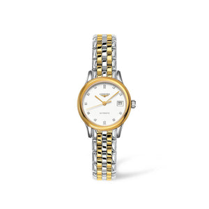 Longines Flagship Collection 26mm Two-Tone White Dial with Diamonds Ladies' Watch