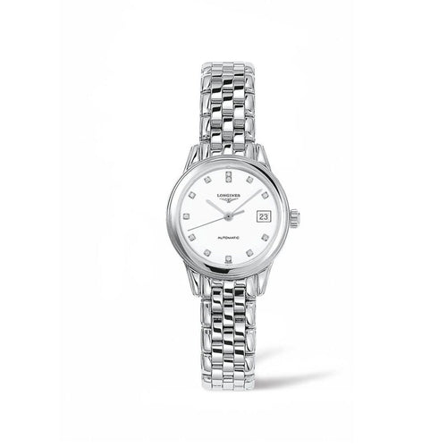 Longines Flagship Collection 26mm White Dial Ladies' Watch with Diamond Indexes