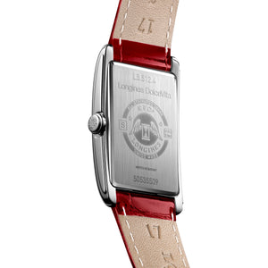 Longines DolceVita Collection 23mm Ladies' Watch on Red Leather Strap