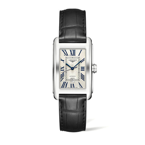 Longines DolceVita Collection 27mm Gent's Watch on Black Leather Strap