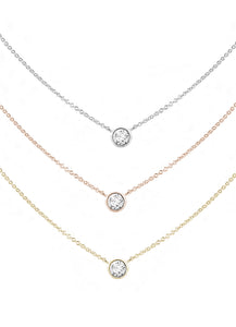 Forevermark Tribute™ Collection 18K Rose Gold Round Diamond Bezel Pendant
