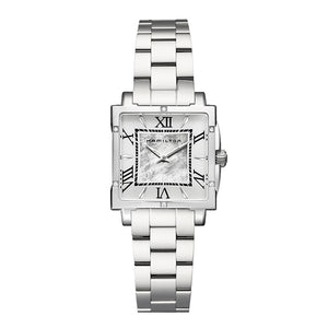 Hamilton Ladies' Jazzmaster Square Lady Stainless Steel Watch