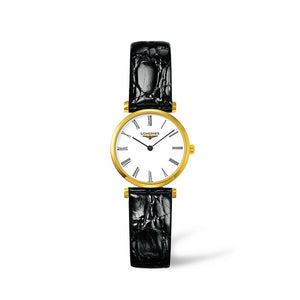 Longines La Grande Classique Collection 24mm White Dial and Crocodile Strap Ladies' Watch