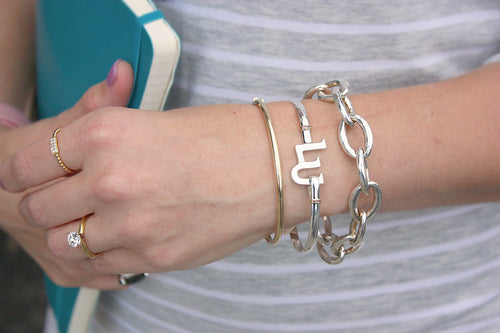 Sterling Silver Fink's Liberty University Bracelet in 8""