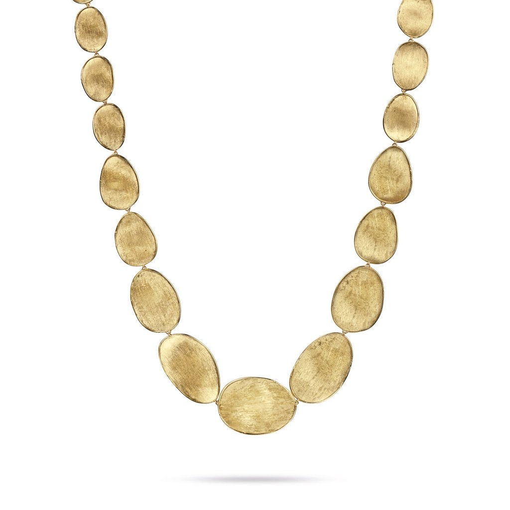 Marco Bicego Lunaria 18K Yellow Gold Hand-Engraved Necklace