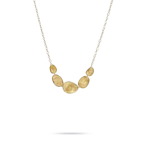 Marco Bicego Lunaria 18K Yellow Gold Hand-Engraved Five Element Necklace