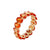Load image into Gallery viewer, Marco Moore 18K Yellow Gold Oval Orange Sapphire Eternity Ring
