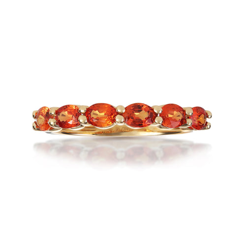 Marco Moore 18K Yellow Gold Oval Orange Sapphire Ring