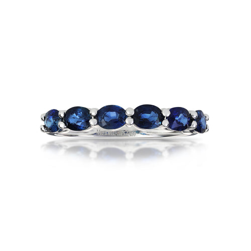Marco Moore 18K White Gold Oval Blue Sapphire Ring