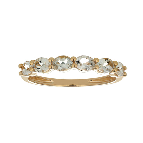 Marco Moore 18K Yellow Gold Oval White Topaz Ring