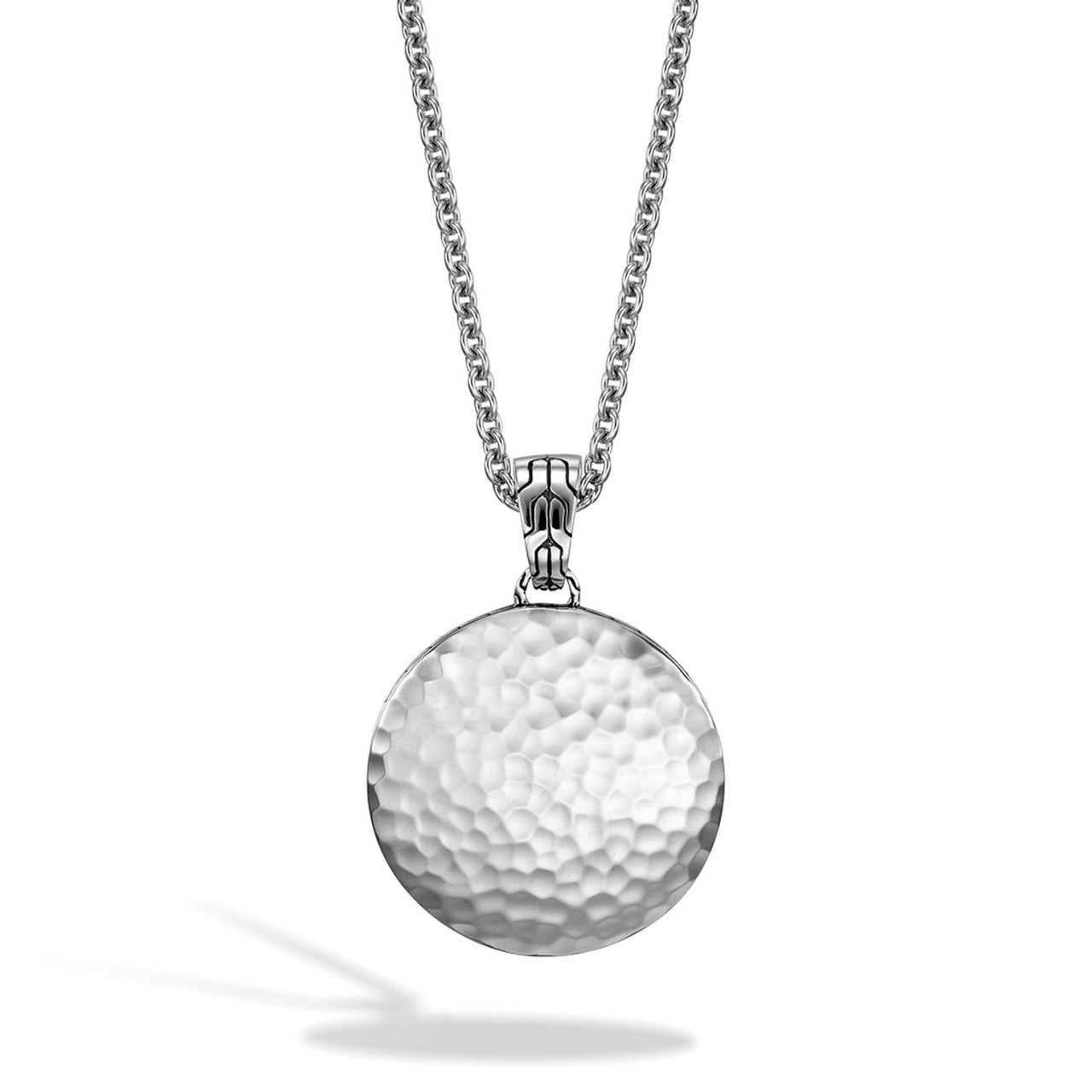 John Hardy Dot Medium Round Pendant in Sterling Silver with Palu Hand Hammering