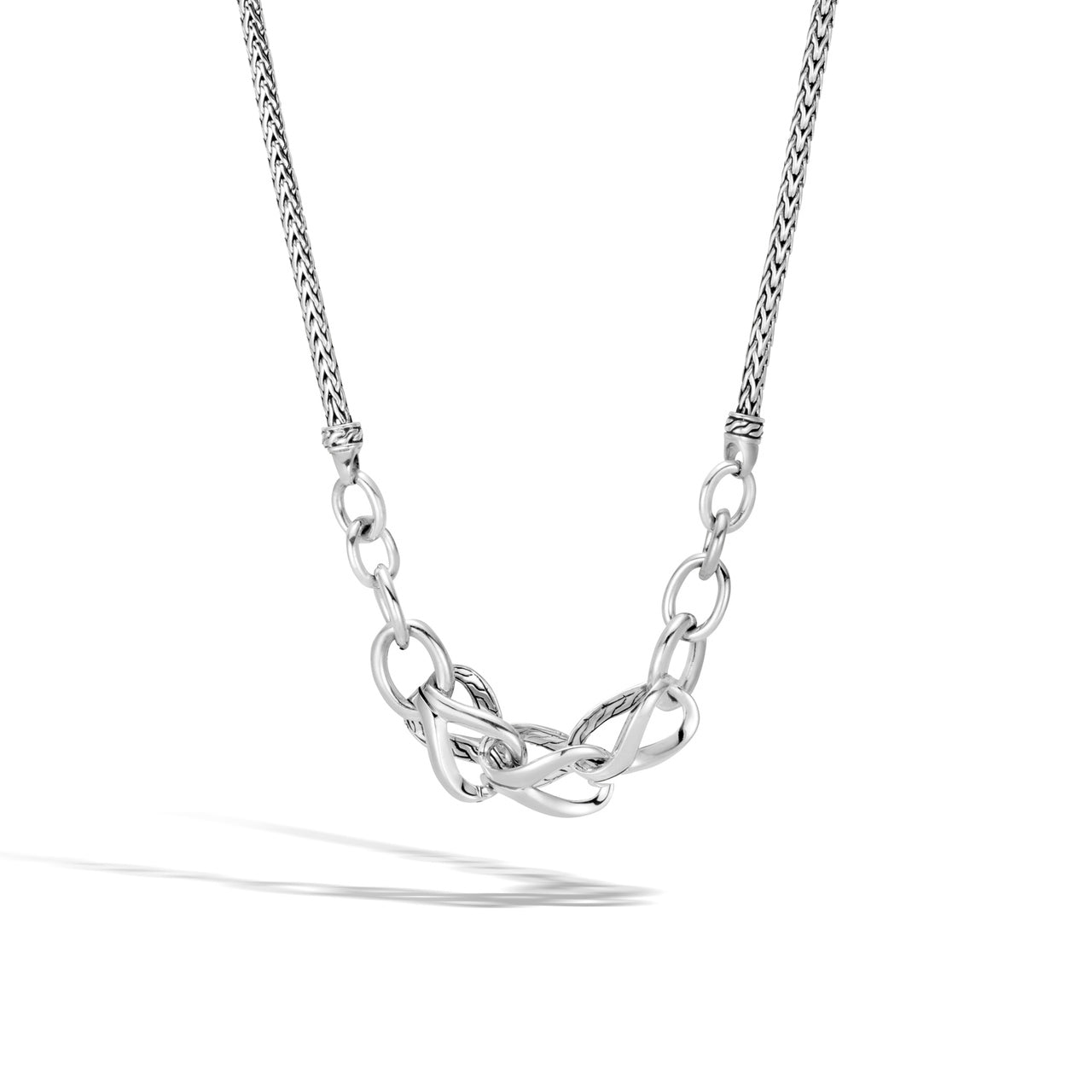 John Hardy Classic Chain Sterling Silver Asli Reversible Link Necklace