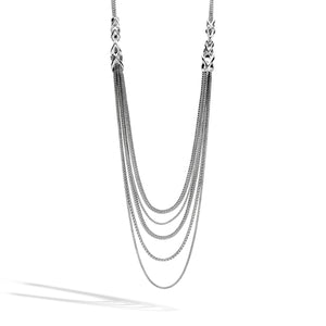 John Hardy Classic Chain Sterling Silver Asli Transformable Bib Necklace