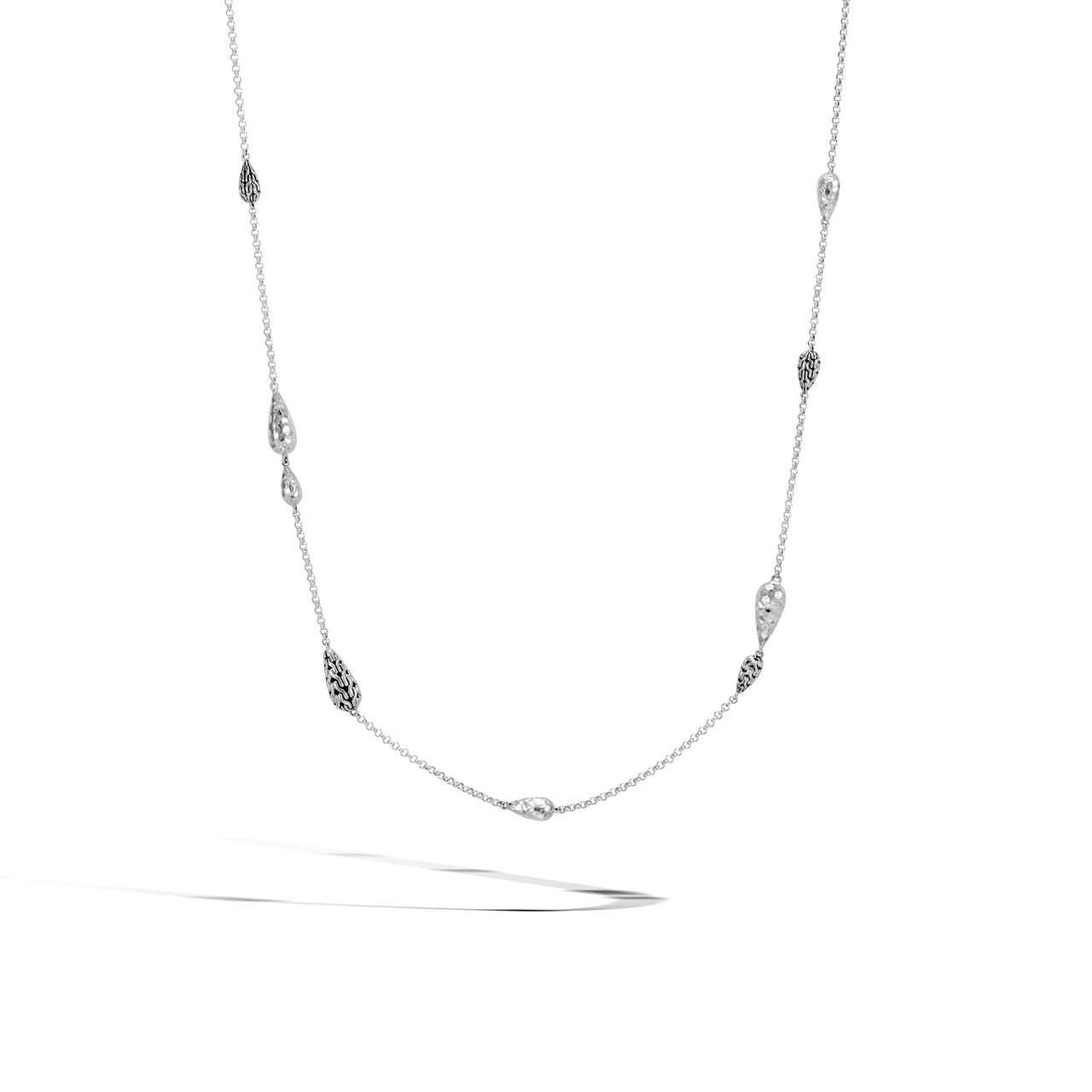 John Hardy Classic Chain Sterling Silver Station Necklace