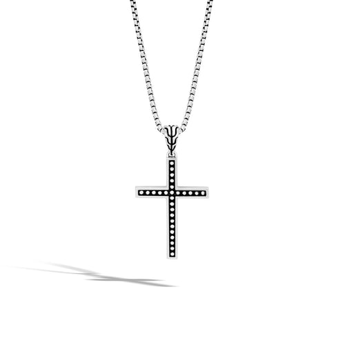 John Hardy Men's Classic Chain Jawan Sterling Silver Cross Pendant