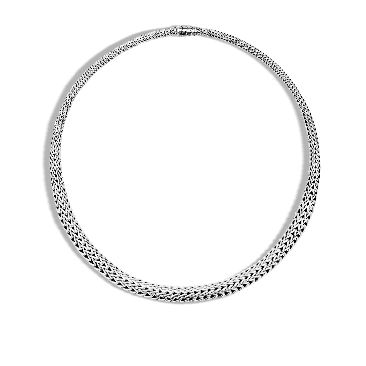 John Hardy Classic Chain 8.5mm Sterling Silver Graduated Necklace
