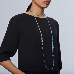John Hardy Classic Chain Aquamarine and Kyanite Asli Transformable Chain Necklace