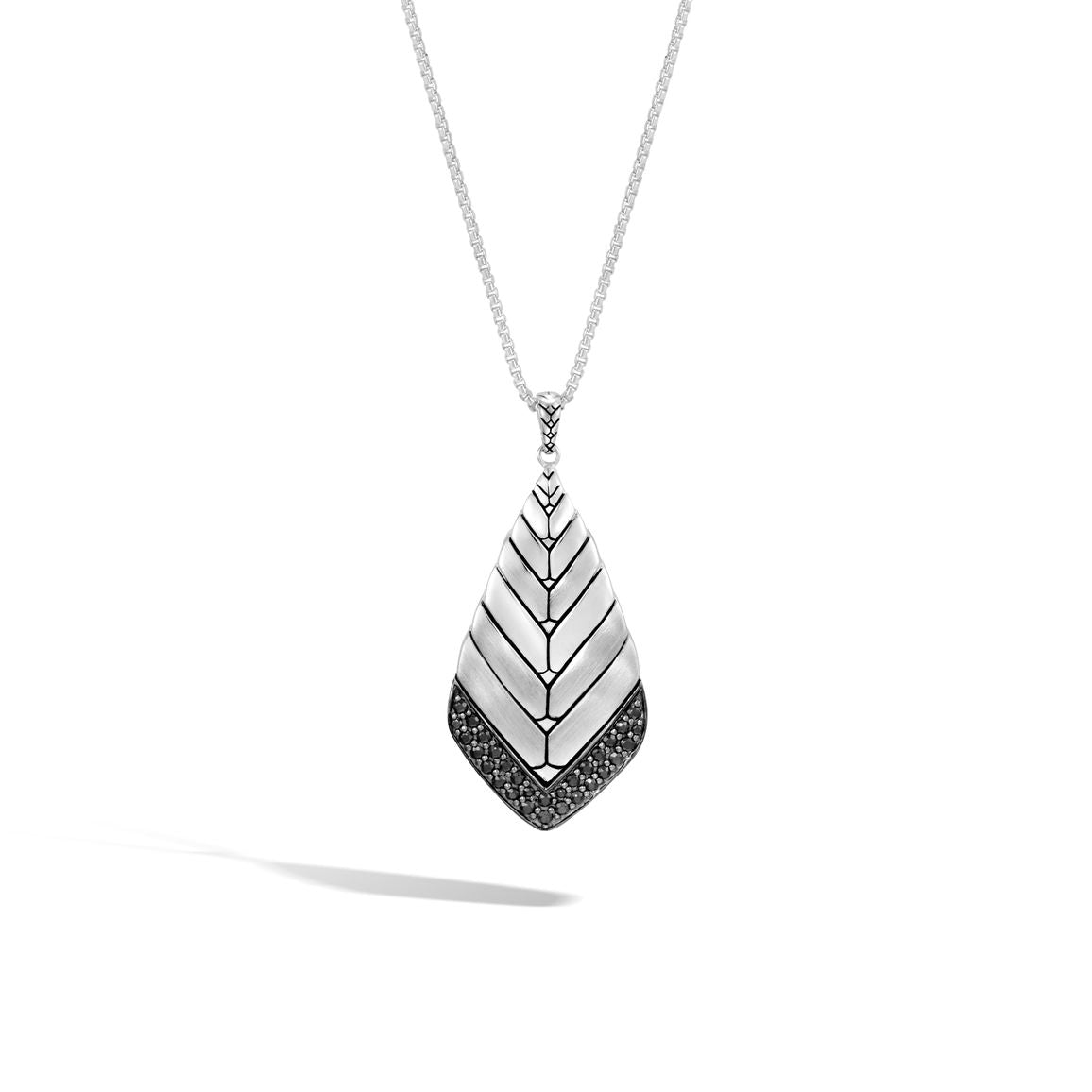 John Hardy Modern Chain Sterling Silver and Black Sapphire Pendant