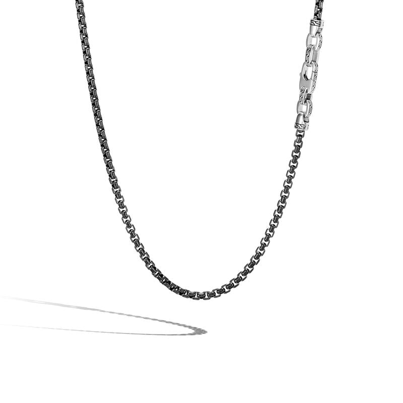 John Hardy Men's Classic Chain Black Sterling Silver Chain Necklace