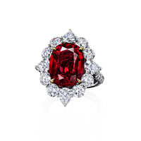 Sabel Collection Platinum and 18K Yellow Gold Thai Ruby and Diamond Ring