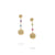 Load image into Gallery viewer, Marco Bicego Africa 18K Yellow Gold and Mixed Gemstone Drop Earrings