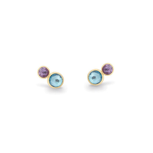 Marco Bicego Jaipur Color 18K Yellow Gold Amethyst and Blue Topaz Earrings