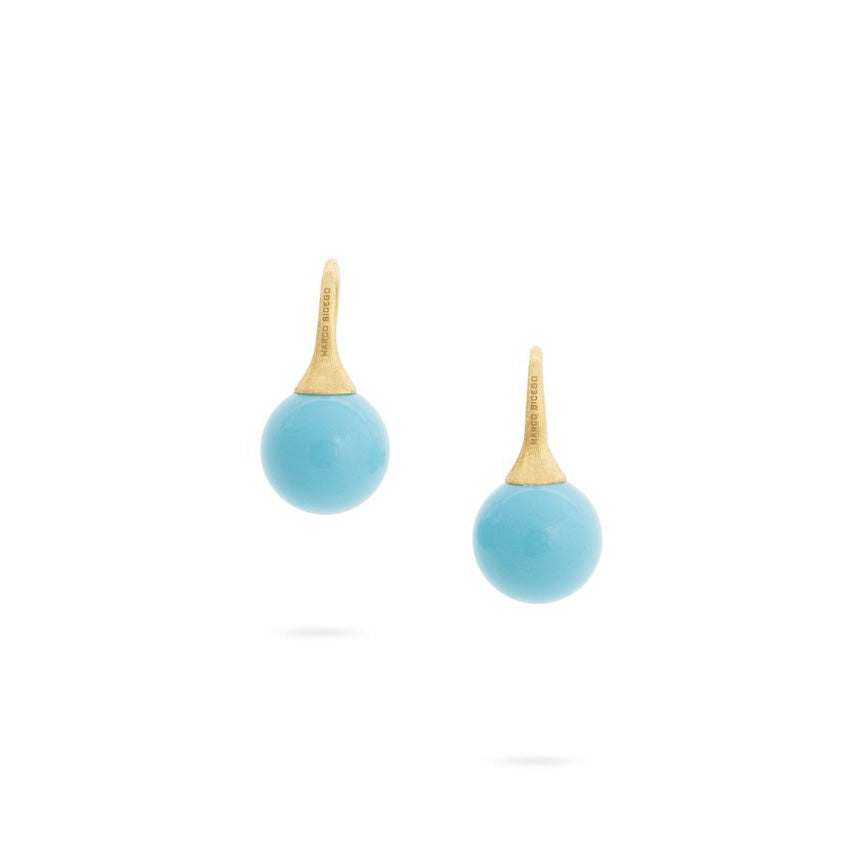 Marco Bicego Africa 18K Yellow Gold Turquoise Drop Earrings