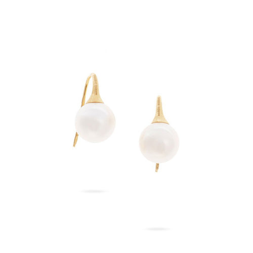 Marco Bicego Africa 18K Yellow Gold Baroque Pearl Drop Earrings