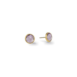Marco Bicego Jaipur Color Mini Button Earrings with Amethyst