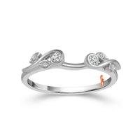 Fink's 14K White Gold Diamond Wrap Wedding Band