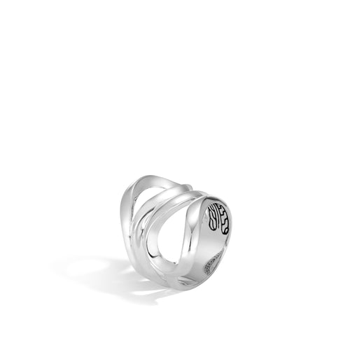 John Hardy Classic Chain Sterling Silver Asli Wide Ring
