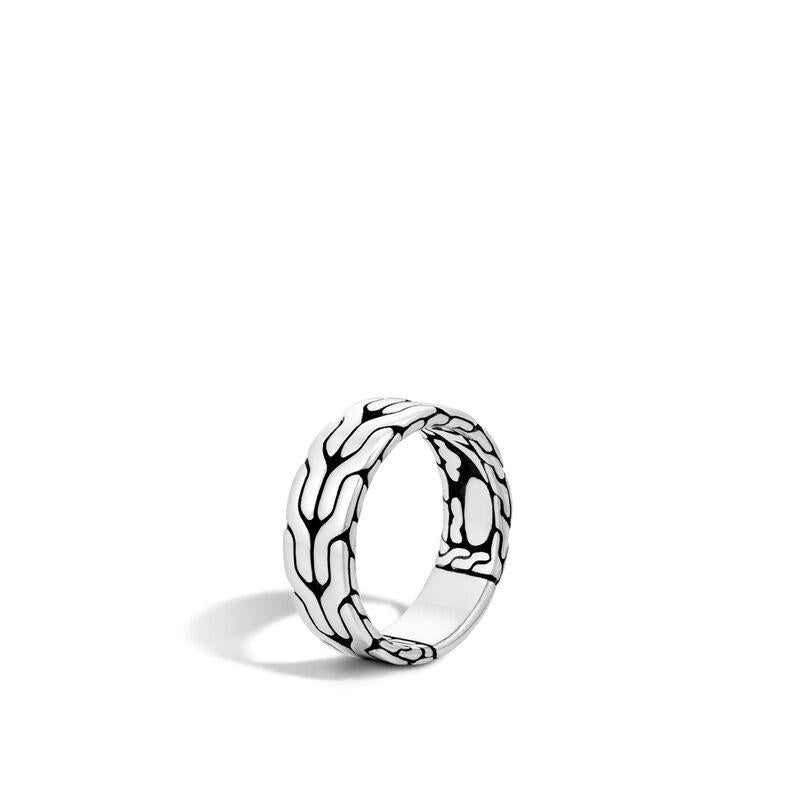 John Hardy Men's Classic Chain Sterling Silver 8mm Band Ring in 10
