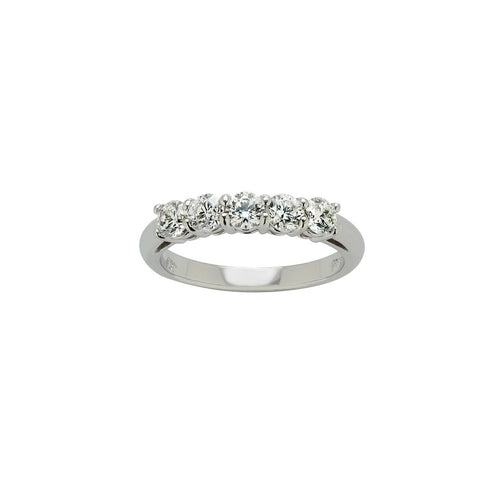 Fink's Platinum 5-Stone Prong Set Wedding Band