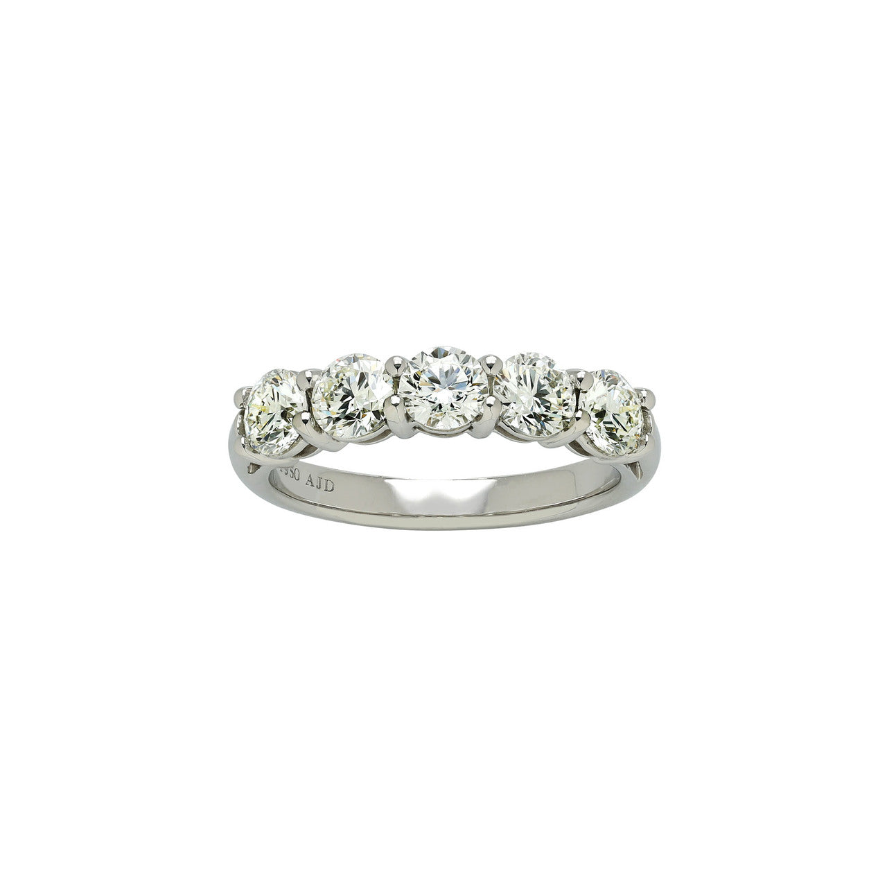 Fink's Platinum 5 Round Diamond Prong Set Band