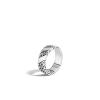 John Hardy Men's Classic Chain Sterling Silver 7mm Band Ring in 10