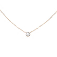 Forevermark Tribute™ Collection 18K Rose Gold Round Bezel Set Diamond Pendant