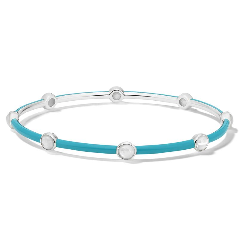 IPPOLITA Lollipop® Carnevale Sterling Silver and Ceramic Eight Stone Bangle