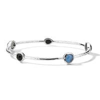 IPPOLITA Rock Candy® Sterling Silver Five Stone Station Bangle in Astro