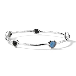 IPPOLITA Rock Candy® Sterling Silver Five Stone Station Bangle in Astro Colorway