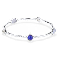 IPPOLITA Rock Candy® Sterling Silver Five Stone Station Bangle in Barbados
